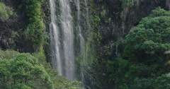 Waterfall at KareKare, Auckland Stock Footage