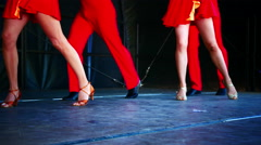 Latin dancer dancing on stage Stock Footage