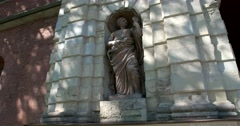 Statue, Peter's gate, Peter and Paul fortress, Saint Petersburg Stock Footage