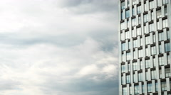 Time lapse: Modern architecture and cloud copy space - stock footage