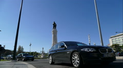 Monument at Marquis of Pombal Square Stock Footage