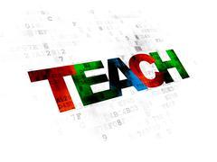 Education concept: Teach on Digital background - stock illustration