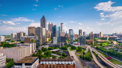 Atlanta, Georgia, USA Downtown Skyline Time Lapse - stock footage