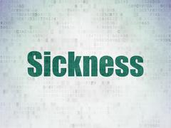 Medicine concept: Sickness on Digital Data Paper background - stock illustration
