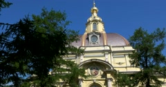 Peter and Paul fortress, Dome of the Grand Ducal burial vault, Saint Petersburg Stock Footage