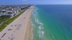 Miami Beach drone video 4k Stock Footage