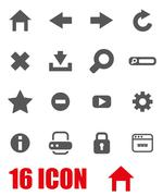 Vector grey browser icon set Stock Illustration