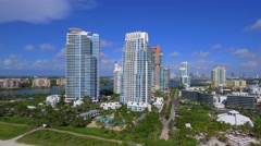 Miami Beach high end real estate Stock Footage