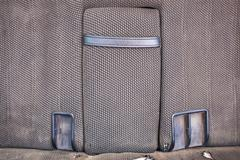Rear car grey seats of old car with armrest Stock Photos