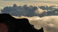 Seascape of Clouds Emerging Upwards - Time Lapse Stock Footage