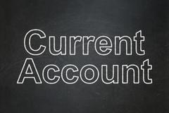 Currency concept: Current Account on chalkboard background Stock Illustration