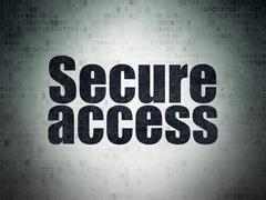 Security concept: Secure Access on Digital Data Paper background - stock illustration