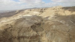 Masada - Judean wilderness near Masada - Nahal Metsada - stock footage