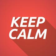 Long shadow illustration of    the text KEEP CALM Stock Illustration