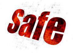 Privacy concept: Safe on Digital background Stock Illustration