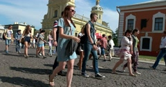 Saint Petersburg, Peter and Paul fortress,  the commandant's house Stock Footage