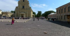 Saint Petersburg, Peter and Paul fortress, the Peter and Paul Cathedral area Stock Footage