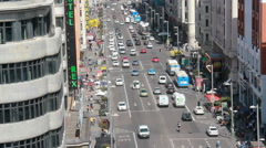 Gran Via road in Madrid, Spain Stock Footage