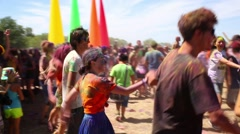 Cosmos Village, Almaty Province, Kazakhstan - 16 August 2015: The festival of Stock Footage