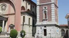 Italy lonate pozzolo ancient religion building.  Stock Footage