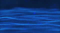 Waves Of Blue Defocused Lights Stock Footage