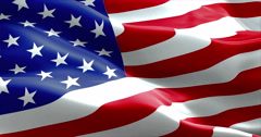 American USA waving flag, united states of america, stars and stripes - stock footage