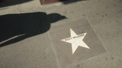 Jazz Walk of Fame, Bologna: Dizzy Gillespie star - stock footage