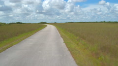 Shark Valley Florida Everglades bike trail Stock Footage