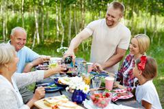 Family having dinner Kuvituskuvat