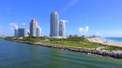 South Pointe Park Miami Beach Stock Footage