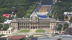 Aerial View Ecole Militaire, Military School In Paris, France Stock Footage