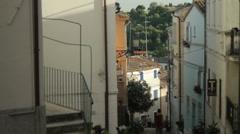 Street Glimpse Vertical Pan, Numana Stock Footage