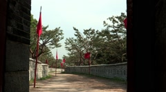 Landscape of Traditional building in Suwon-si, Gyeonggi-do Province, Korea Stock Footage