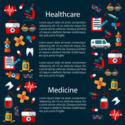 Healthcare and medicine infographic template - stock illustration