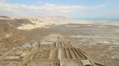Masada - Storerooms - Bathhouse - Upper, Middle and Lower terraces (Version 01) Stock Footage