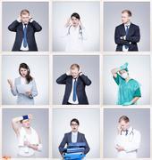 Different job, different predicaments Stock Photos