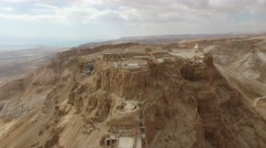 Masada - Terraces - Water gate - Storerooms - Bathhouse - Grand residence _01 Stock Footage