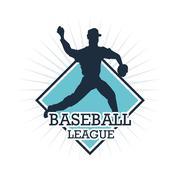 Baseball player. Sport design. Vector graphic - stock illustration