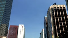 Skyscrapers in the Cheonggye creek, Jongno-gu, Seoul, Korea Stock Footage
