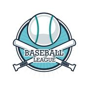 Ball and Bat of Baseball. Sport design. Vector graphic Stock Illustration