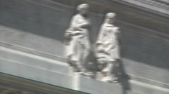 NY Public Library lettering detail: The Tilden Trust, with right pan - stock footage