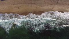 Sea Waves Crashing on the Beach Stock Footage