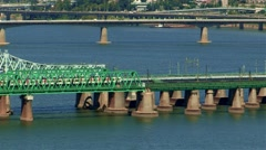 Landscape of Han river in Seoul, Korea Stock Footage