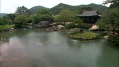 Landscape with Traditional Building in Wando-gun, Jeollanam-do, Korea Stock Footage