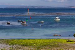 Brittany colorful coastline Stock Photos