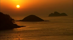 Seascape of Wando-gun, Jeollanam-do, Korea Stock Footage
