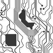 Circuit board icon. Technology design. Vector graphic Stock Illustration