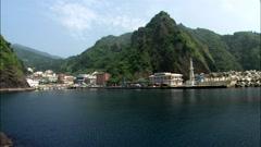 Seascape of Ulleungdo Island in Uljin-gun, Gyeongbuk, Korea Stock Footage