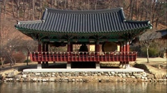 Traditional Temple of Uljin-gun, Gyeongbuk, Korea Stock Footage