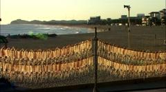 Seascape of Yangyang-gun, Gangwon-do, Korea Stock Footage